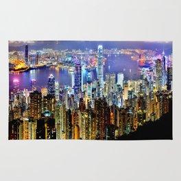 Hong Kong City Skyline Rug