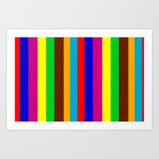 Painted Stripes Art Print