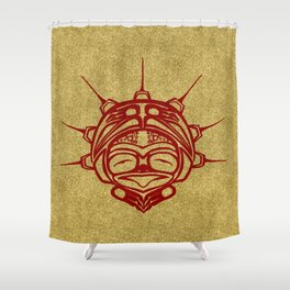 Blood Frog Sand Shower Curtain
