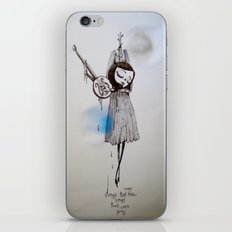 songs that were blue, songs that were grey iPhone & iPod Skin