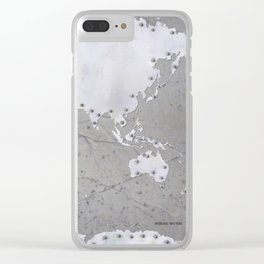 Riveted metal - Organic World Map Series Clear iPhone Case