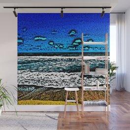 Ocean, Sky, Beach, and Sand Wall Mural