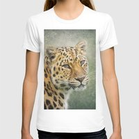 leopard T-shirts featuring Leopard by Pauline Fowler ( Polly470 )