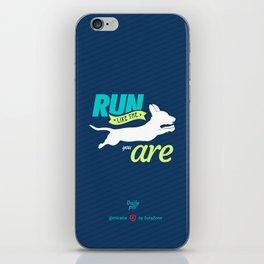 Run Like Dogs iPhone Skin
