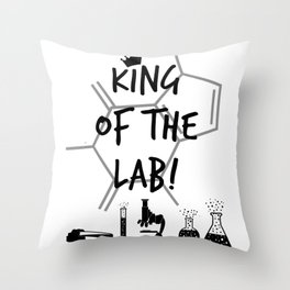 King of The Lab Throw Pillow
