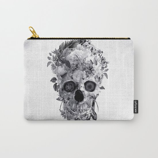 Skull BW Carry-All Pouch