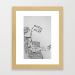 sam Framed Art Print