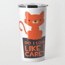 Grumpy Cat - Do I Look Like I Care Travel Mug