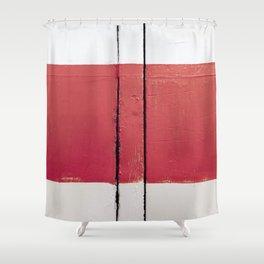White Red White Shower Curtain
