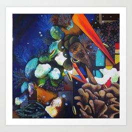 Cosmic Gridding Art Print