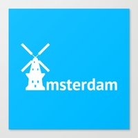 amsterdam Canvas Prints featuring Amsterdam by Flat Design