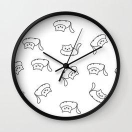 Fat cats pattern Wall Clock