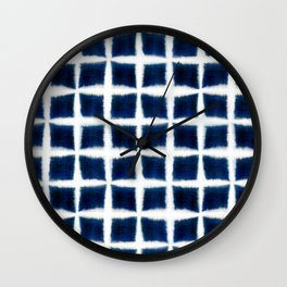 Shibori Blocks Wall Clock