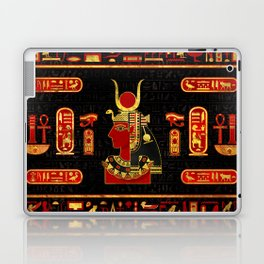 Hathor Egyptian Ornament Gold and Red glass Laptop & iPad Skin