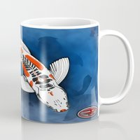 koi fish Mugs featuring Koi Fish by Nerd Artist DM