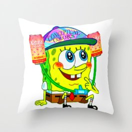 Naturday is for Spongebob Throw Pillow
