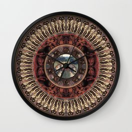 Mandala: Van Eyck (Tan) Wall Clock