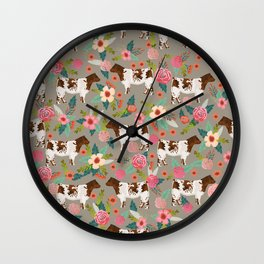 Shorthorn cattle breed farm homestead cows shorthorn cow floral Wall Clock
