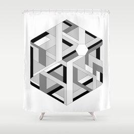 Hexagon monochrome Shower Curtain
