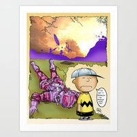 peanuts Art Prints featuring Peanuts  by Anand Brai