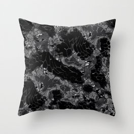 black dragon scales camouflage Throw Pillow
