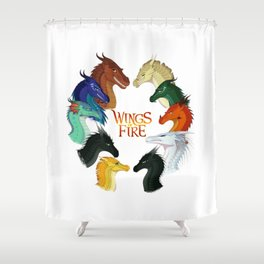 Wings of Fire Shower Curtain