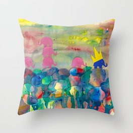 6 Penny the Pink Elephant Throw Pillow