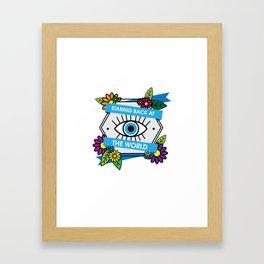 Eye Protection Framed Art Print