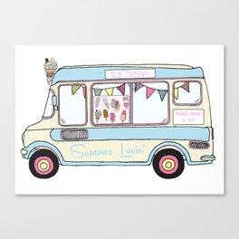 Summer Lovin' Ice Cream Van Canvas Print