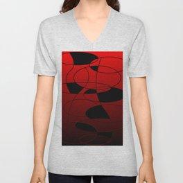 Abstract #52 Unisex V-Neck