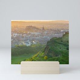 Edinburgh Castle On A Summer Evening Mini Art Print