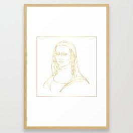 Mona Lisa in Gold Framed Art Print