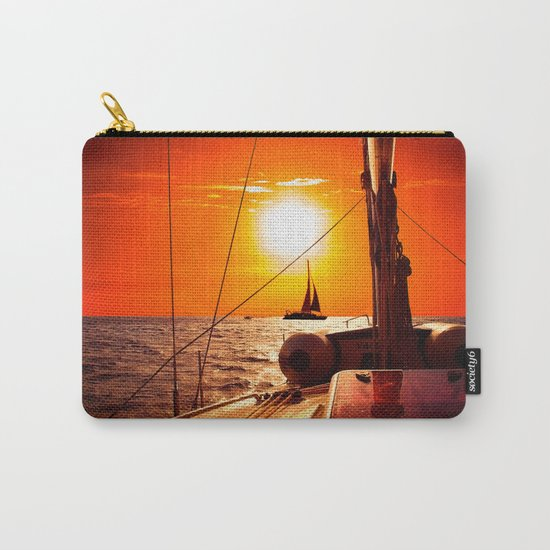 Yacht at Sunset Carry-All Pouch