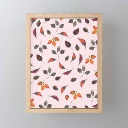 Flying Leaves Framed Mini Art Print