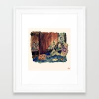 hermione Framed Art Prints featuring Hermione by Beastlyworlds