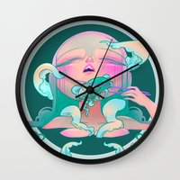 horror Wall Clocks featuring Horror fish by STUDIO KILLERS