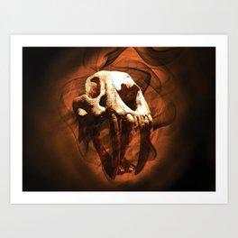 Skull and BoneZ Art Print