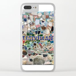 East Village NYC Mosaic Clear iPhone Case