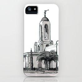 Newport Beach California Temple iPhone Case