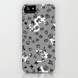 pattern with currency iPhone Case