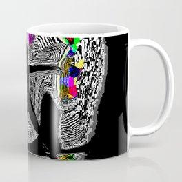 GLITCH YOGA, WARRIOR 1 Coffee Mug