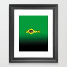 colors of brazil - lets dance brazilian zouk Framed Art Print