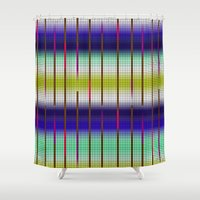 grid Shower Curtains featuring GRID by Tatiana Couto