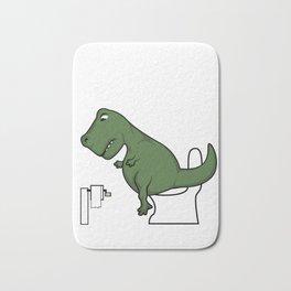 TRex dinosaur arms toilet funny gift Bath Mat