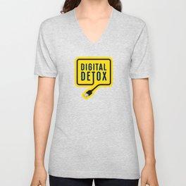 Digital detox yellow Unisex V-Neck