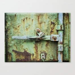 Rusty, worn and weathered Canvas Print