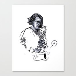 russ gershon of the either orchestra Canvas Print