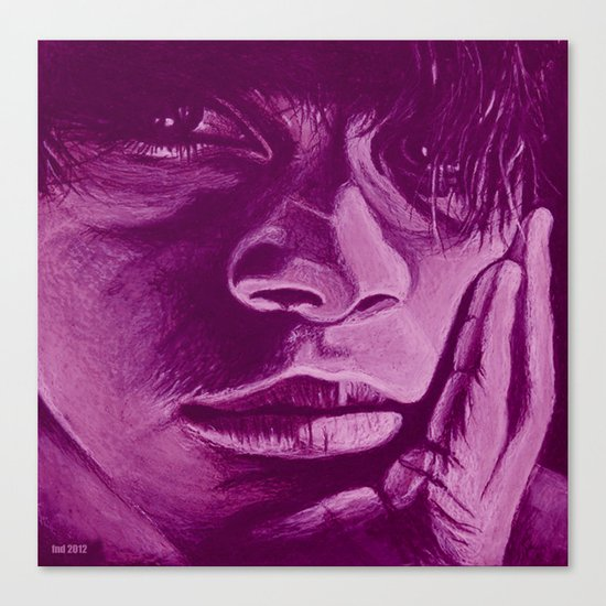 pensar - violet Canvas Print