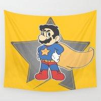 mario Wall Tapestries featuring Super Mario by tshirtsz