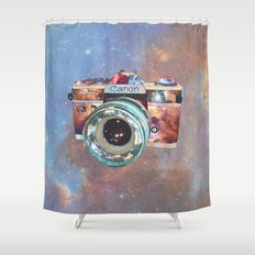SPACE CAN0N Shower Curtain